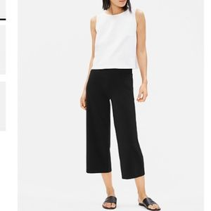 Eileen Fisher Cotton Stretch Jersey Wide Pants